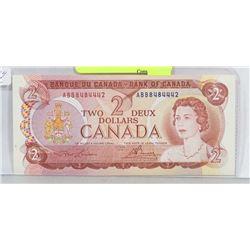 1974 CANADA $2 BILL