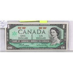 1967 CENTENNIAL NO SERIAL NUMBER $1 BILL