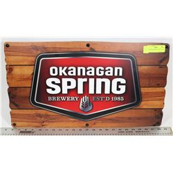 OKANAGAN SPRING LIGHT UP SIGN.