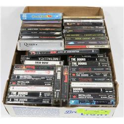 FLAT OF ROCK  / HEAVY METAL CD'S & TAPES INCLUDES