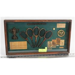 VINTAGE THE HISTORY OF TENNIS 3D DISPLAY