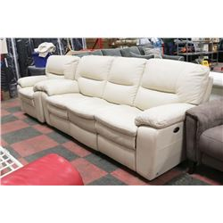 NEW BEIGE GENUINE LEATHER ELECTRIC RECLINING