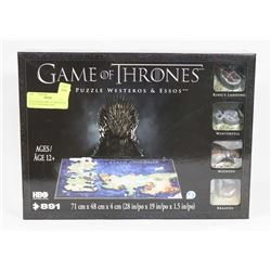NEW IN BOX GAME OF THRONES 4D PUZZLE WESTEROS AND