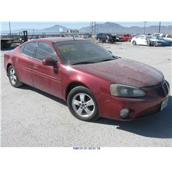 2005 - PONTIAC GRAND PRIX// REBUILT SALVAGE