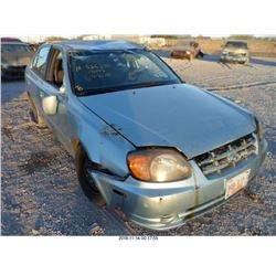 2004 - HYUNDAI ACCENT//SALVAGE TITLE