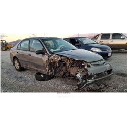 2005 - HONDA CIVIC// SALVAGE TITLE
