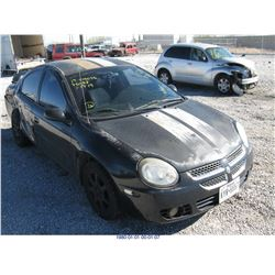 2003 - DODGE NEON// LEGAL RESTRAINT//BONDED TITLE