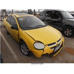 2004 - DODGE NEON//REBUILT SALVAGE