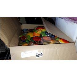 BOX OF DECORATIVE FRUIT WALL DECOR