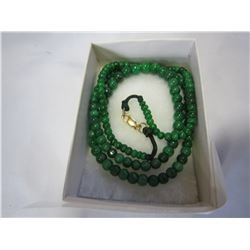 JADE NECKLACE CLASP MARKED 18K