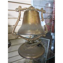 HAND HAMMERED COPPER BELL LAMP