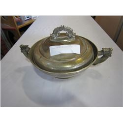LIDDED METAL CHINESE DISH