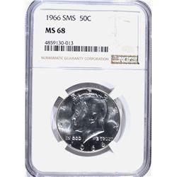 1966 SMS KENNEDY HALF DOLLAR NGC MS-68