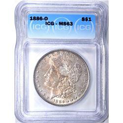 1886-O MORGAN DOLLAR ICG MS-63
