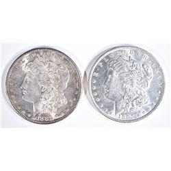 1881-S & 97 CH BU MORGAN DOLLARS