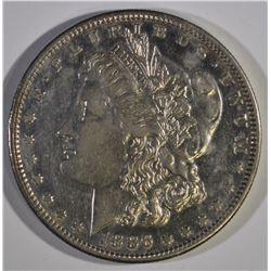 1886-S MORGAN DOLLAR, CH BU