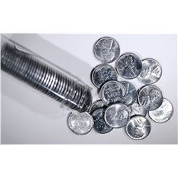 """BU ROLL OF 1943-S LINCOLN """"STEEL"""" CENTS"""