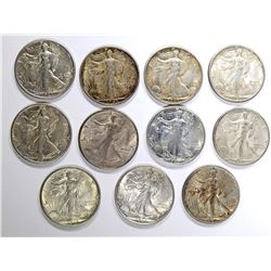10-1943-S & 1-1943 WALKING LIBERTY HALF DOLLARS