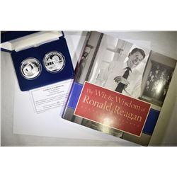 "(2) RONALD REAGAN .999 SILVER ""GREAT MOMENT"""
