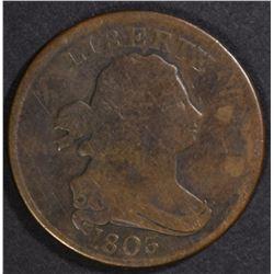1803 HALF CENT, GOOD+