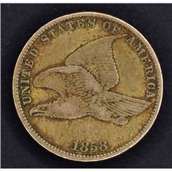 1858 FLYING EAGLE CENT, XF