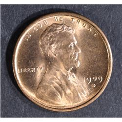 1909-S LINCOLN CENT, CH BU+ RB NICE!!