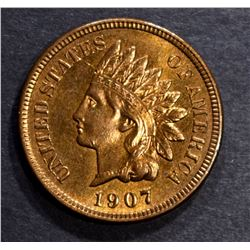 1907 INDIAN CENT, CH BU RB