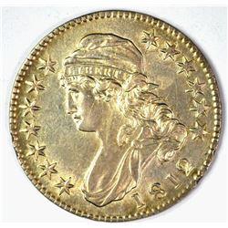 1812 BUST HALF DOLLAR, AU/BU a few marks