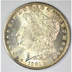 1881-CC MORGAN DOLLAR, CH BU+ BLAZER