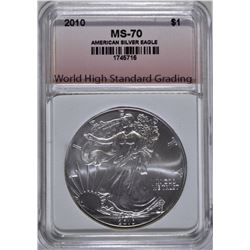 2010 AMERICAN SILVER EAGLE, WHSG PERFECT GEM BU