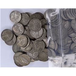 "200-MIXED DATE CIRC SILVER JEFFERSON ""WAR"" NICKELS"