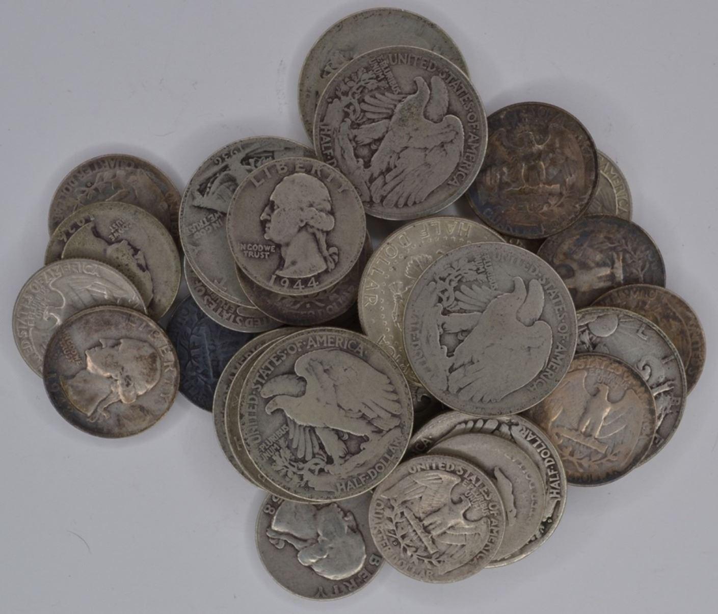 $10 00 FACE VALUE MIXED 90% SILVER COINS