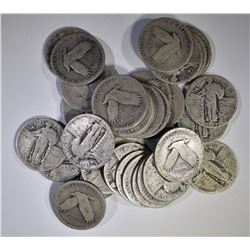 35 STANDING LIBERTY QUARTERS 90% SILVER