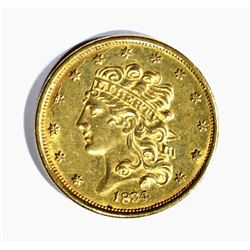 1834 $5.00 CLASSIC GOLD, CH BU STRONG STRIKE!