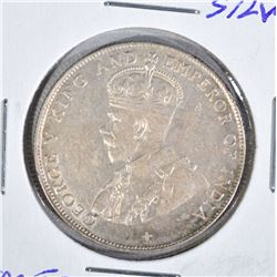 1920 SILVER 50 CENTS STRAITS SETTLEMENTS