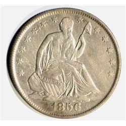1856-O SEATYED HALF DOLLAR, VF+