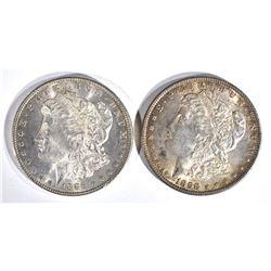 1886 & 1898 MORGAN DOLLARS  CH BU