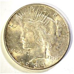 CH BU 1934 PEACE DOLLAR