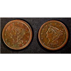 1851 & 1856 XF/AU HALF CENTS