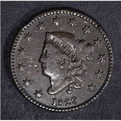 1829 LARGE CENT VF MARKS