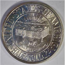 1936 YORK COMMEM HALF DOLLAR, BU+