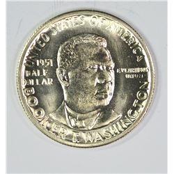 1951-S B.T. WASHINGTON HALF DOLLAR, GEM BU+ BLAZER
