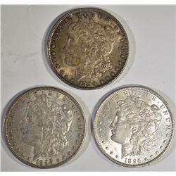 3-1896 CH BU MORGAN DOLLARS, CH BU