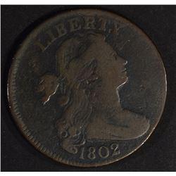 1802 DRAPED BUST LARGE CENT, FINE