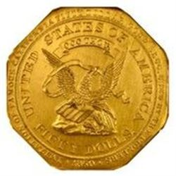 "California. San Francisco. 1915 Irvine & Jachens Souvenir Octagonal ""Slug."" HK-424. MS-62 NGC"
