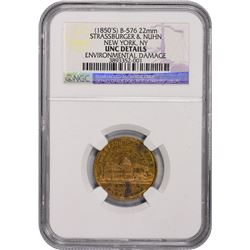 New York. New York City. Trio of NGC-Certified 1850s-era General Washington Tokens, including: Undat