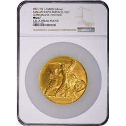 Medal. New York. Buffalo. 1901 Pan-American Exposition Medal. NY L-TM103. Gorham Co. Gilt Bronze. 64