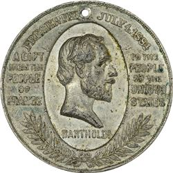 Medal. New York. New York City. 1886 Statue of Liberty Dedication. Silver. Holed for Suspension. 38