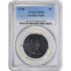 1798 S-169. Rarity-3. VF-25 PCGS