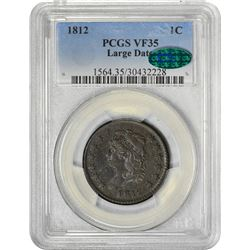 1812 S-288. Large Date. Rarity-2. VF-35 PCGS. CAC.